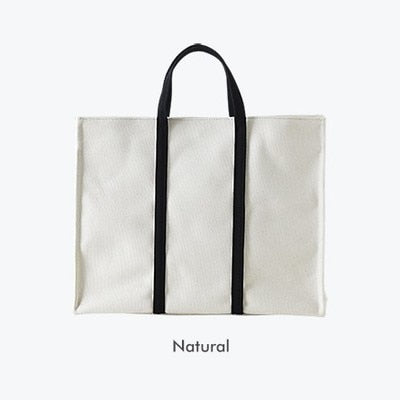 Contrast Canvas Handbag