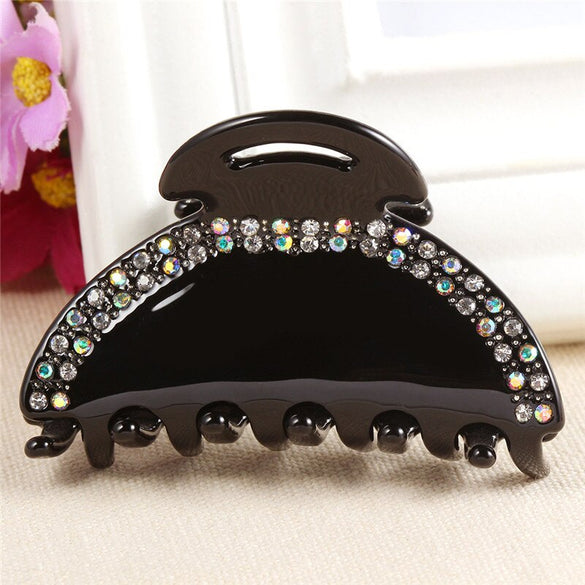2016 New Fashion Hair Jewelry Crystal Rhinestone Hair Claws Clips Luxury Acetate Big Hair Clips For Women Girls Tiara (AG820003)