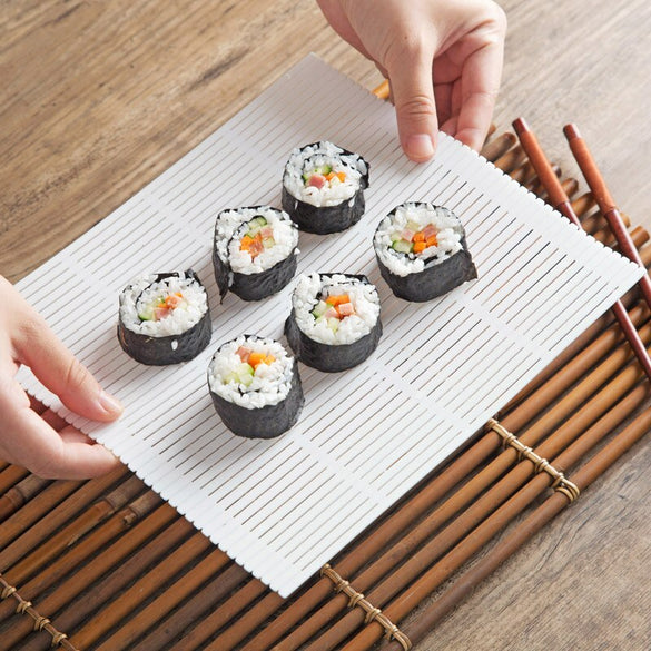 vanzlife Household kit for preparing sushi rolls tools Roller shutters for making rice mold rolls and maker curtains for sushi