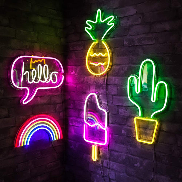 Bar Neon Light Party Wall Hanging LED Neon Sign for Xmas Shop Window Art Wall Decor Neon Lights Colorful Neon Lamp USB Powered