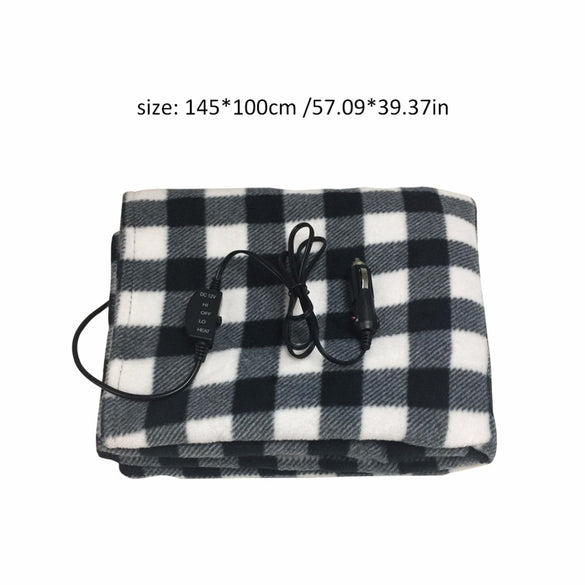 145*100cm New 12V Car Heating Blanket Lattice Energy Saving Warm Autumn And Winter Car Electric Blanket Automotive
