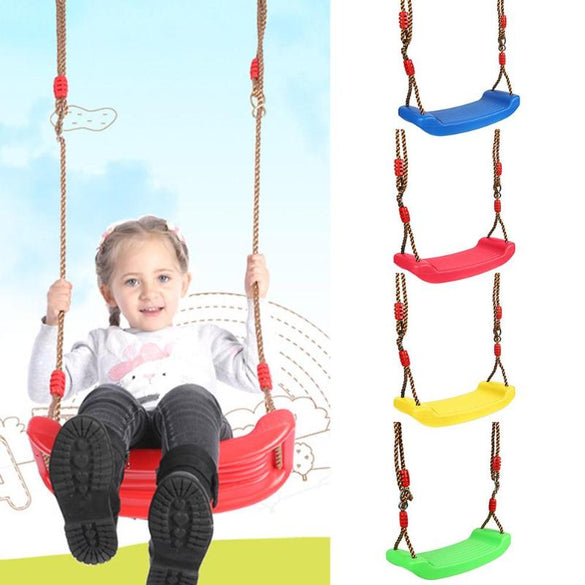 New Outdoor Swing Toys for Children Indoor Swing Rope Seat Molded For Kids Enjoy Flowers Birdsong Garden Toy Swings
