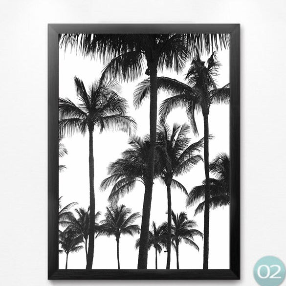 Nordic Minimalist black white scenery canvas painting prints wall art painting pictures for living room Modern room decor AP0027