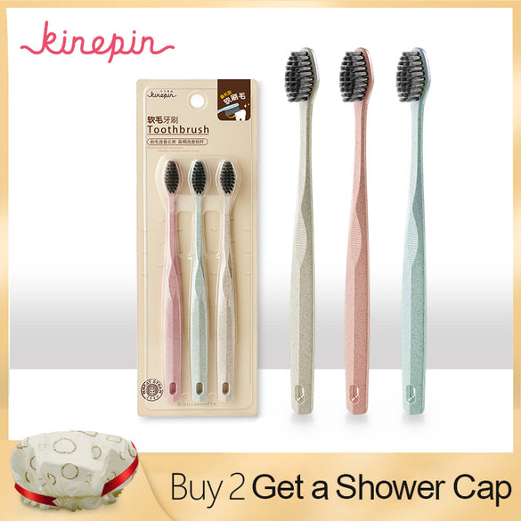 3pc Eco Charcoal Toothbrush