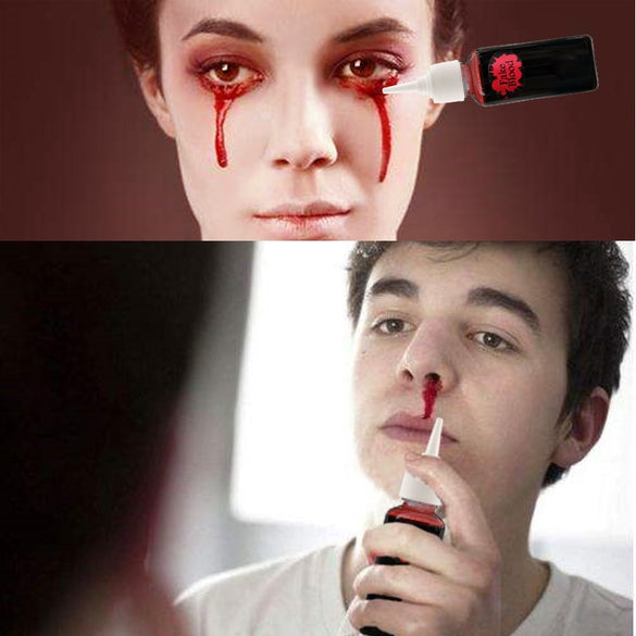30ml Ultra-Realistic Fake Blood for Bloody Nose Eyes Ears Party Vampire Zombie Makeup Props Halloween Cos Decoration