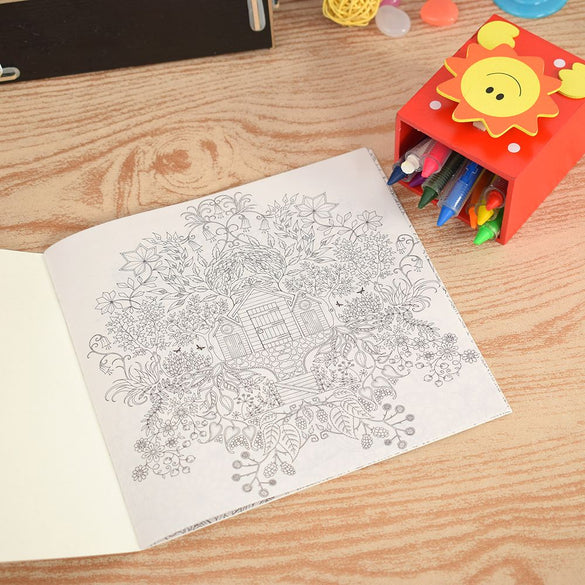 Secret Garden Treasure Hunt and Coloring Book Painting Paper Adults Kids Pressure Relief Gifts Painting Tools School Supplies