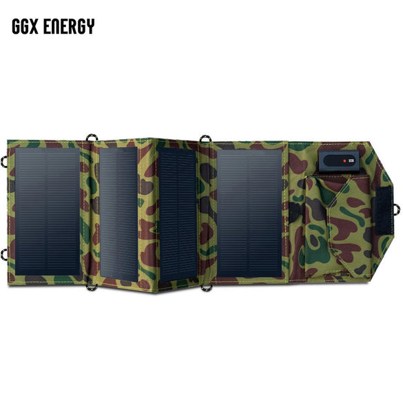 GGX ENERGY 8W Portable Solar Charger for Mobile Phone iPhone Folding Mono Solar Panel+Foldable Solar USB Battery Charger