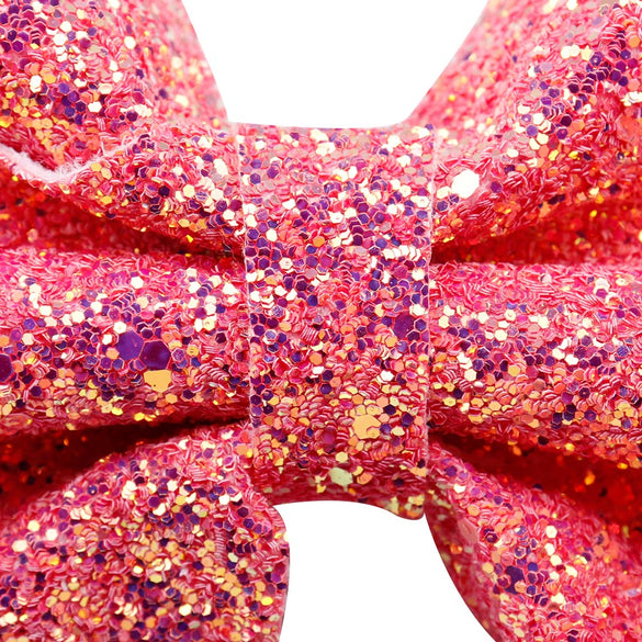 8 Inch Large Sparking Glitter Hair Bows for Girls Bling Hairgrips Handmade Teens Girls Headwear Hair Bows Hair Accessories 2018