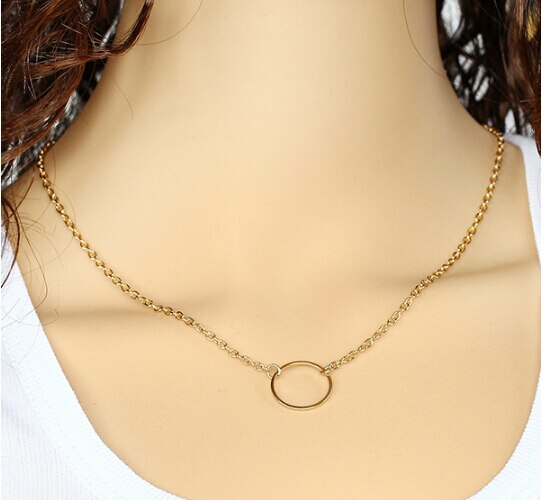 Timlee N145 Free shipping metal Round Circle Short Necklaces Wholesale HY