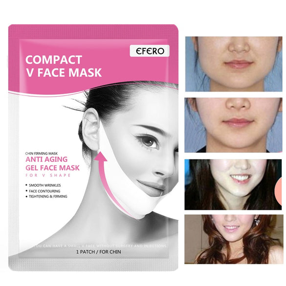 3Pcs EFERO Lifting Face Masks V Shape Face Slim Chin Check Neck Lift Peel-off Mask V Shaper Face Slimming Bandage Skin Care