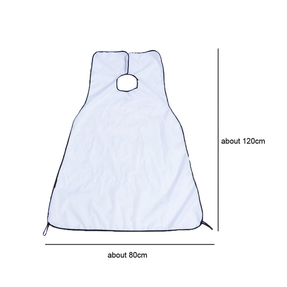 120x80cm Man Bathroom Apron Black Beard Apron Hair Shave Apron for Man Waterproof Floral Cloth Household Cleaning Protecter