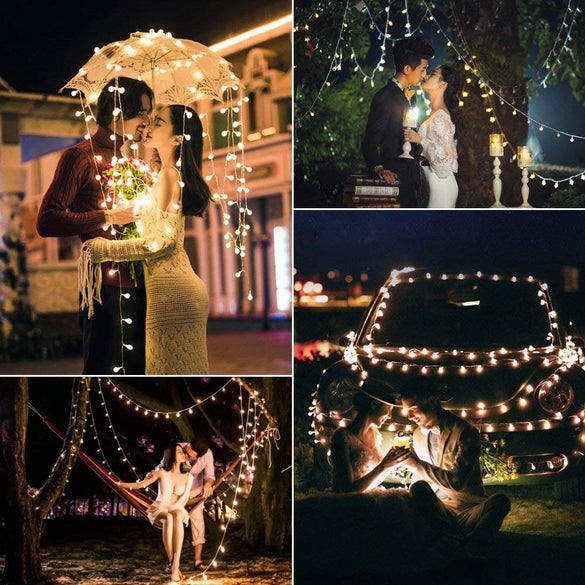 10M Led Globe Light String holiday Festoon Fairy party Lights Christmas outdoor Wedding tree lighting decoration