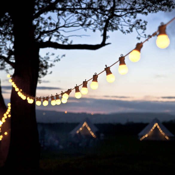 23M 25 LED Festoon Lights Bulb String Fairy Lights Connectable White Cable Outdoor Wateproof Christmas Wedding party decoration