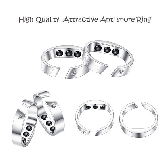 4 Sizes Anti Snore Ring Magnetic Therapy Acupressure Treatment Against Snoring Device Snore Stopper Finger Ring Sleeping Aid