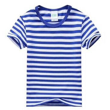 New Summer 100% Cotton Boys t-shirt Brand Children's Striped T shirts Short Sleeve O-Neck Kids Clothes Fashion Big Boy Tops Tees