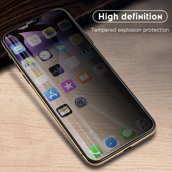 Full Privacy Tempered Glass For iPhone X XS MAX XR 6 6S 7 8 Plus 11 Pro max Anti Spy Screen Protector For iphone 11 8 7 11Pro