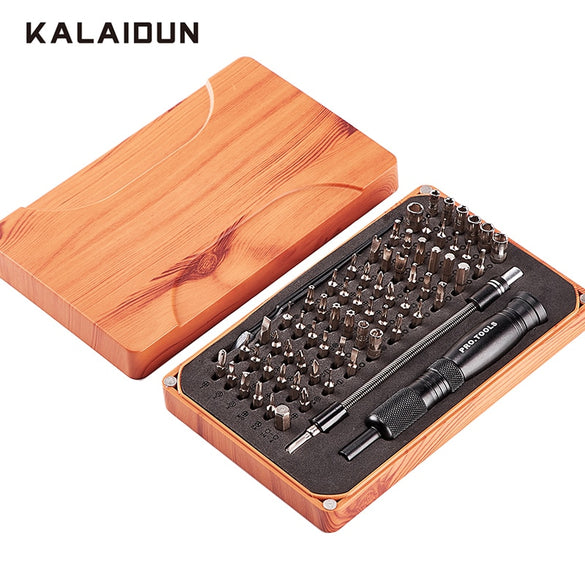 KALAIDUN 69 in 1 Precision Screwdriver Set with 66 Bit Magnetic Driver Kit Hand Tools Electronics Repair Tool Kits