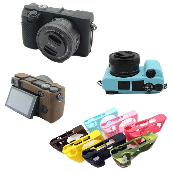 Nice Soft Camera Video Bag For Sony A6300 A6400 Silicone Case Rubber Body Cover Skin