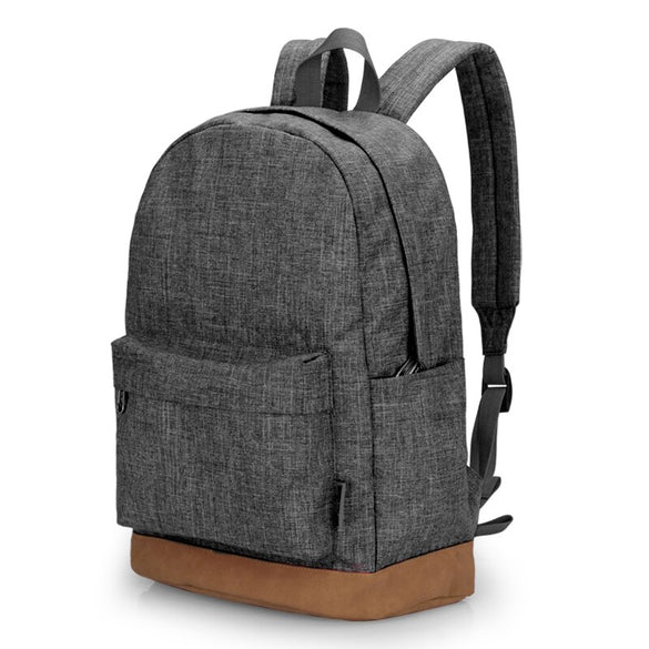 TINYAT Men Male Canvas Backpack Gray Casual Rucksacks 15inch Laptop Backpacks College Student School Bag Backpack Women Mochila