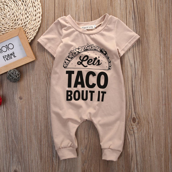 Newborn Baby Boy Girls ClothesHamburg letters short sleeves Romper Jumpsuit Outfits 0-18M