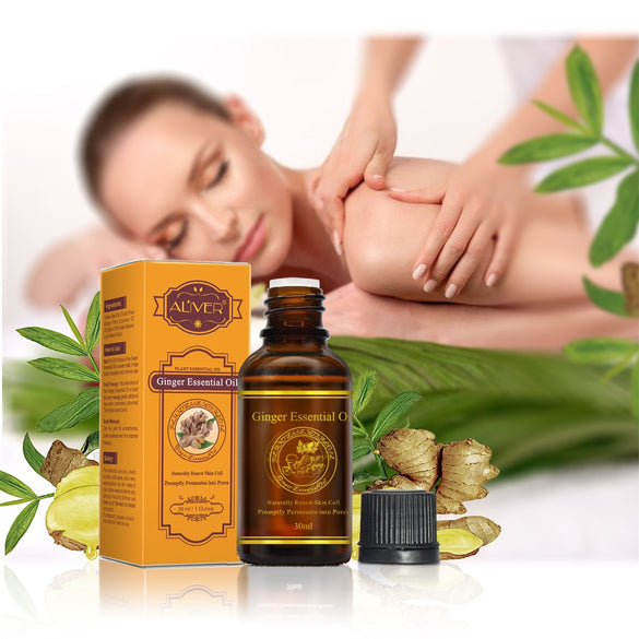 30ml Hot Sale Pure Plant Essential Oil Ginger Oil Body Massage Thermal Body Ginger Essential Oil for Scrape Therapy SPA TSLM1