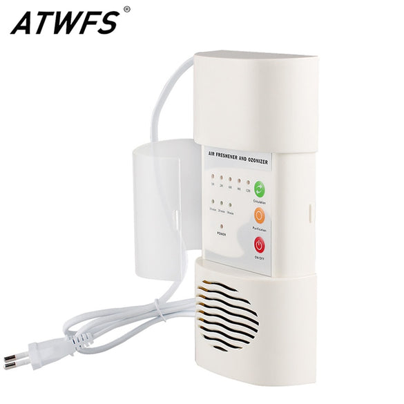 ATWFS Air Ozonizer Air Purifier Home Deodorizer Ozone Ionizer Generator Sterilization Germicidal Filter Disinfection Clean Room