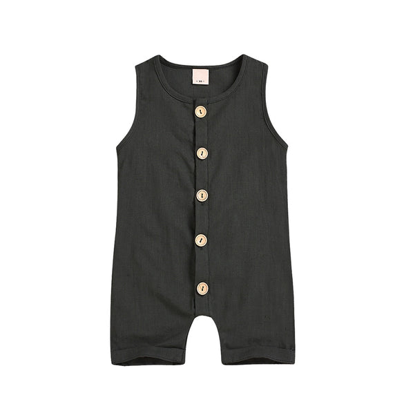 Newborn Baby Boys Girls Ruffles Romper Infant Toddler Sleeveless Solid Jumpsuit Suit Clothes Outfits Wholesale одежда для пупсов