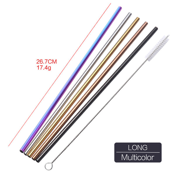 4pc Reusable Metal Drinking Straws