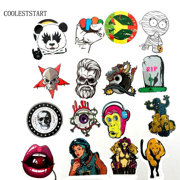50-100PCS Graffiti Stickers Retro Animal Creative Cool Waterproof Sticker for Suitcase Laptop Bike Motorcycle Car Stickers