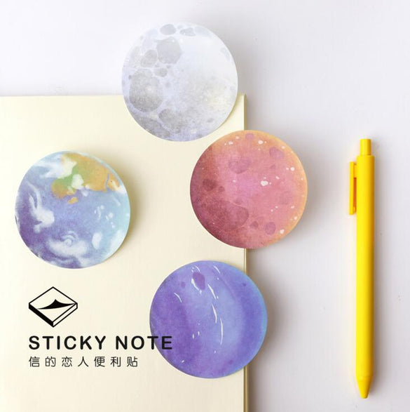 The Beautiful Planet Memo Notepad Notebook Memo Pad Self-Adhesive Sticky Notes Bookmark Promotional Gift Stationery