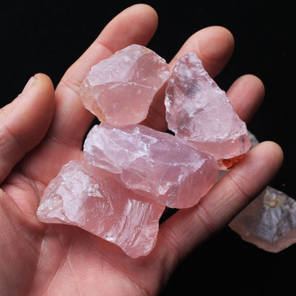 50G Natural Raw Pink Rose Quartz Crystal Rough Stone Specimen Healing crystal love natural stones and minerals fish tank stone