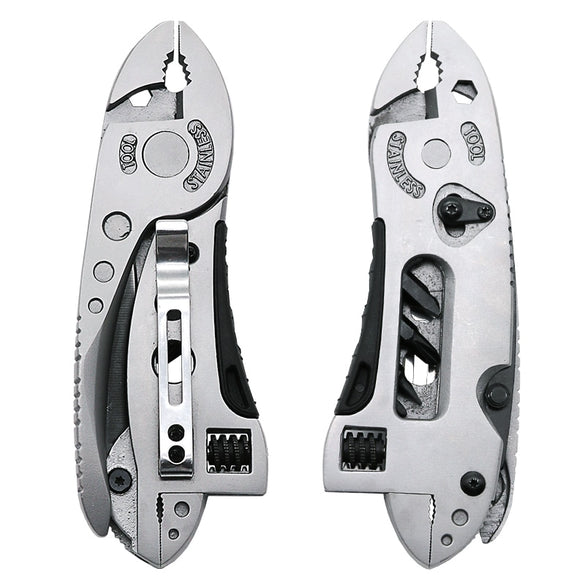 QST EXPRES Multitool Pliers Pocket Knife Screwdriver Set Kit Adjustable Wrench Jaw Spanner Repair Survival Hand Multi Tools Mini