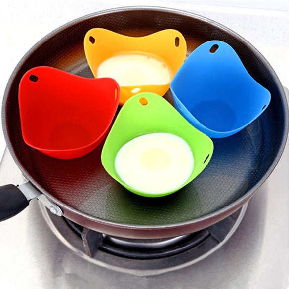 7 Pcs/Set Egg Tool with Separator Egg Boiler Cooker Transparent Silicone Maker Egg Steamer kitchen Omelette mold