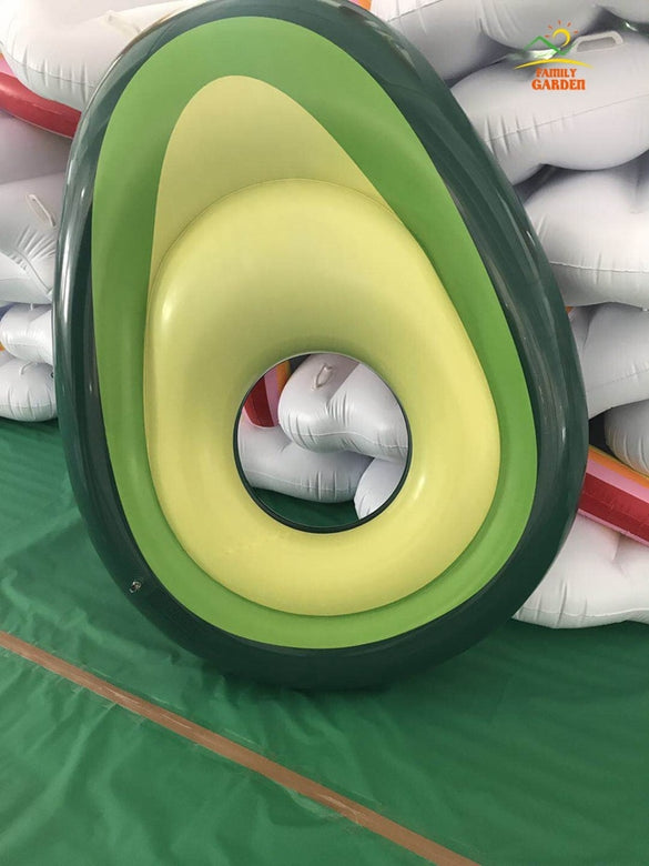 New Design Inflatable Avocado Pear Pool Beach Swimming Toy Blowup Float Floatie Air Mattress