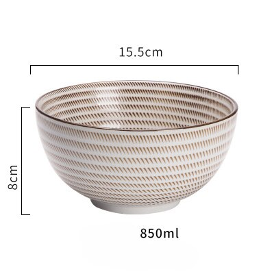 KINGLANG Japanese Classical Ceramic Bowls Tableware Kitchen Soup Noodle Rice Bowl Big Ramen Bowl  Spoon and Teacup