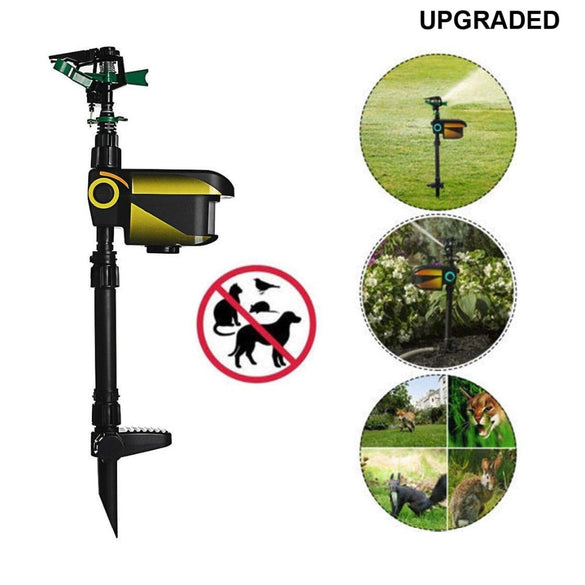 UPGRADED-Solar powered Motion Activated Animal Repeller Garden Sprinkler Scarecrow,Animal Deterrent