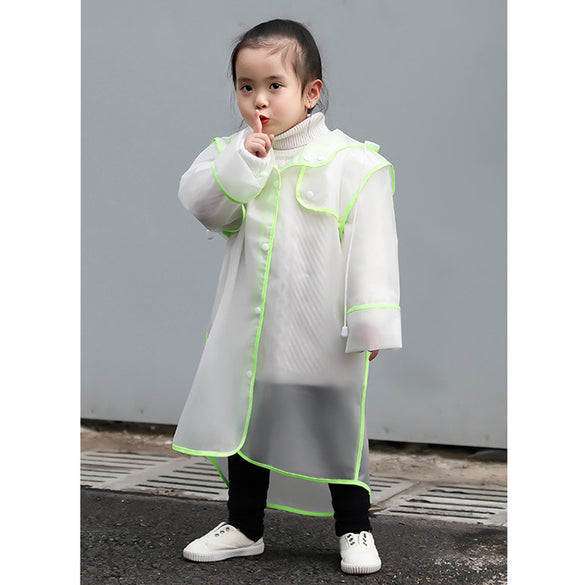 children's raincoat girl's raincoats child poncho waterproof rain poncho rain gear EVA hooded transparent baby boys  Rainwear