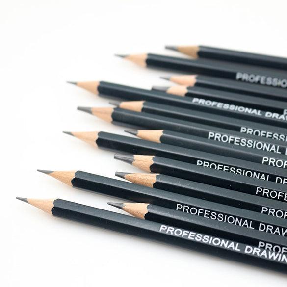 14 pcs/set Professional Sketch Painting Drawing Pencil Wood HB 2B 6H 4H 2H 3B 4B 5B 6B 10B 12B 1B Pencils Set Stationery Supply