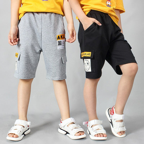 Big Boys Pants Summer Pants 95% Cotton Loose Casual Short Pants for Boys 6 8 10 12ages Teenage Boys Clothing Back To School 2020
