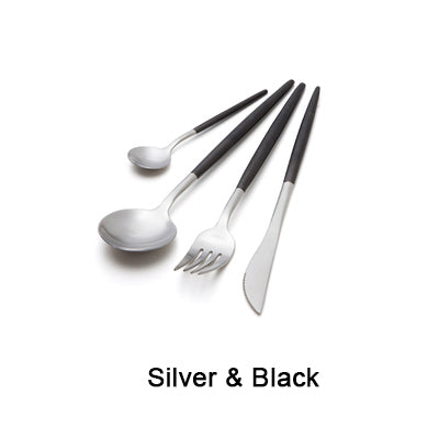 Black and Gold Cutlery Set