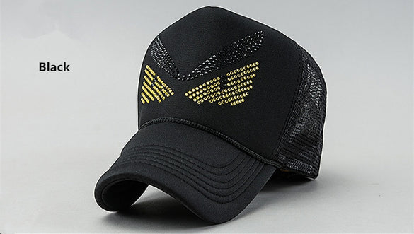 Fashion New Men's Cotton Baseball Cap Women Gorras Novelty Little Monster Mesh Casual Summer Outdoor Sport Sun Hat  B-133