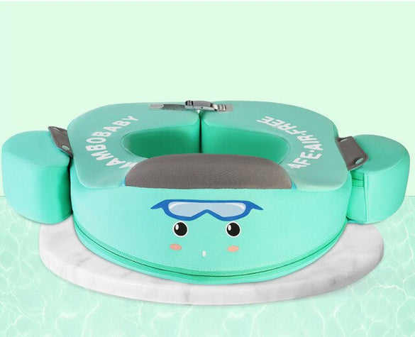 Non-Inflatable Baby Swim Trainer With Sun Protection