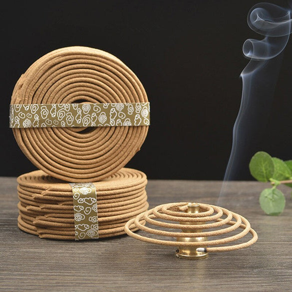 Natural Sandalwood Incense Home Fragrance Coil Incense Spice Antiseptic Refreshing 48 Coils Per Box Jasmine Rose Magnolia