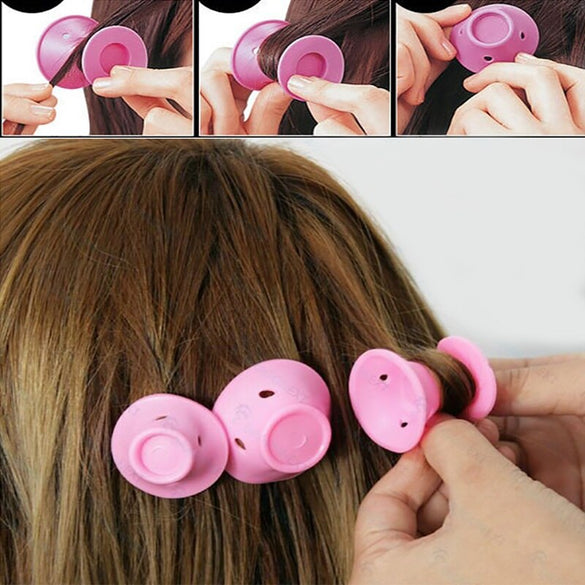 10/20/30pcs/set Soft Rubber Magic Hair Care Rollers Hair Curler No Heat No Clip Curling Styling DIY Women Silicone Fashion Tool