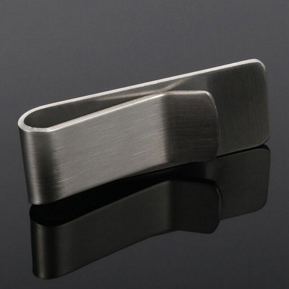 1PC Stainless Steel Metal Money Clip Fashion Simple Silver Dollar Cash Clamp Holder High Quality Wallet clip for Men Women