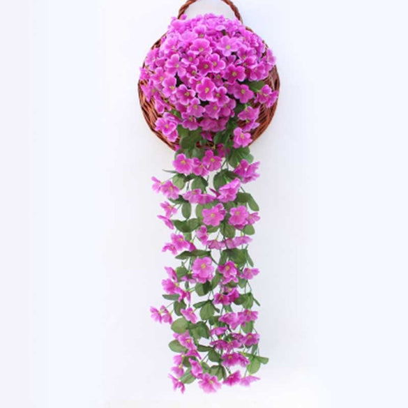 Violet Artificial Flower Party Decoration Simulation Valentine's Day Wedding Wall Hanging Basket Flower Orchid fake Flower