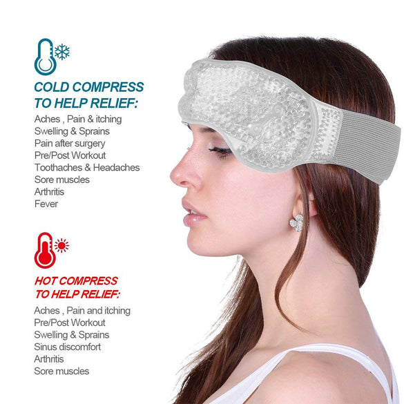 Migraine Ice Pack Head Wrap Adjustable Headache Ice Pack with Gel Bead for Pain Relief Breathable Hot Cold Pack ice bag for head