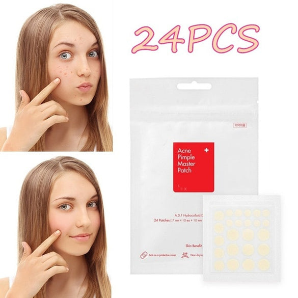 24PCS Acne Remover Treatment Cream Blackhead Remover Mask Acne Remover Tool Black Pimple Scar Skin Tag Removal Acne Patch (as picture show)