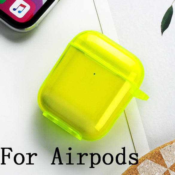 For AirPods Case Silicone Candy Color Transparent Fundas For Air Pods 2  Earphone Cases Protector For Airpods Pro Soft TPU Cover