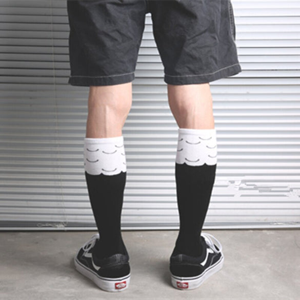 Drop Ship Crew Socks Fashion Mid Knee Fun Chicken Chook Chick Hen Cock Rooster Drumstick Toe Leg Feet Claw Paw Talon Harajuku
